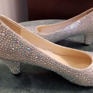 Rhinestone red bottom heels